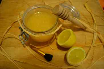 Masque citron miel